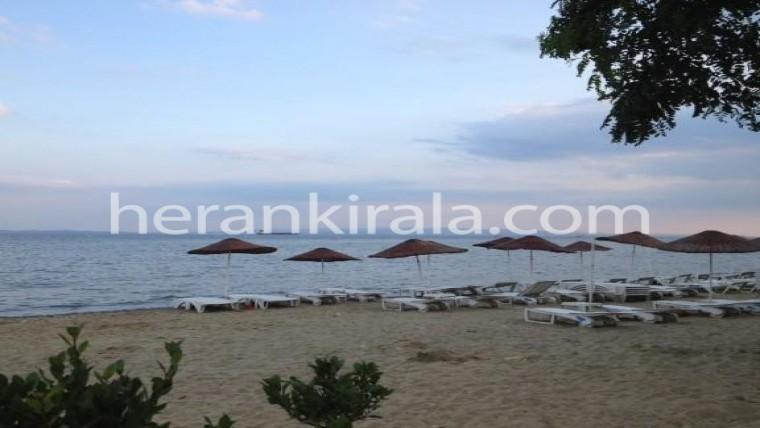 mavi bayraklı plaja sahip şarköy de Denize yakın günlük kiralık yazlık